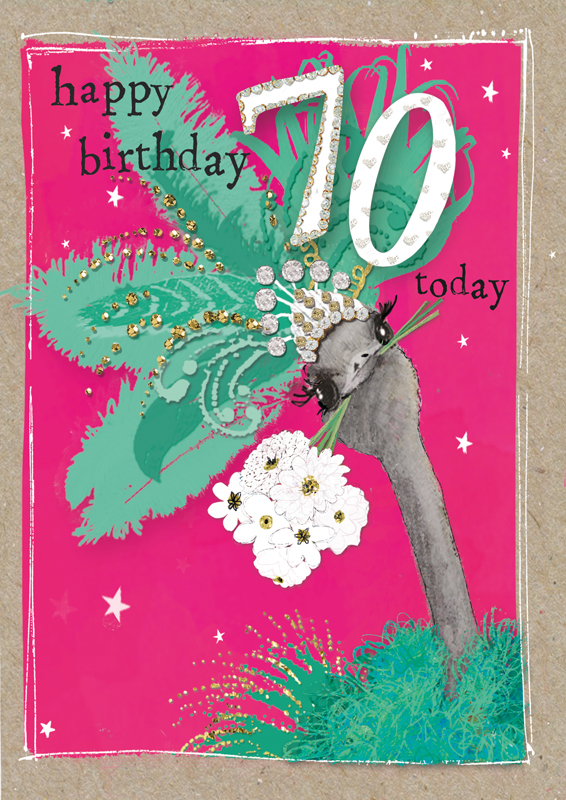 70 Today - Pink Ostrich