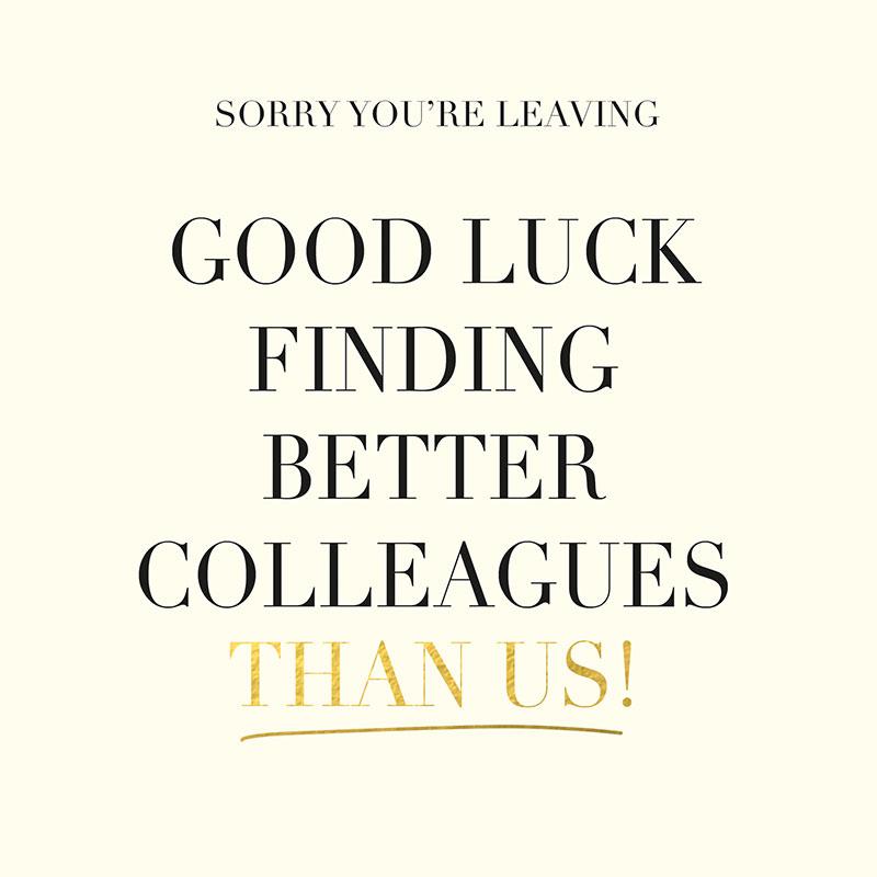 Good Luck Finding Better Colleagues
