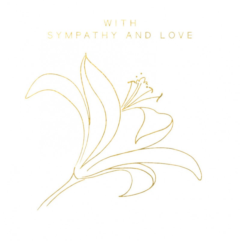 With Sympathy & Love