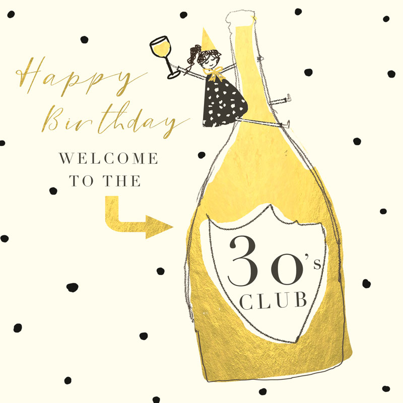 Happy Birthday Welcome To The 30's Club