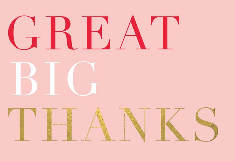 Great Big Thanks
