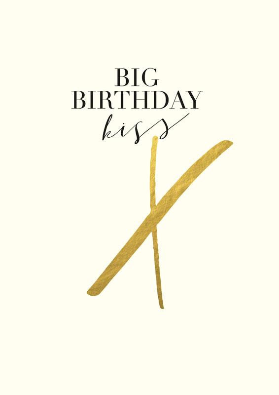 Big birthday kiss x